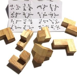 """Tabby Cube"" Wooden Building Blocks (LG005)"
